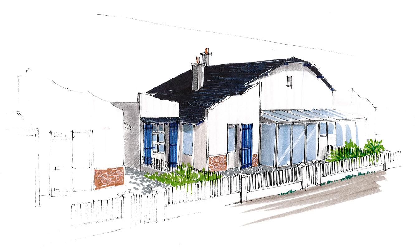 Projet extension maison - St-Gilles-Croix-de-Vie