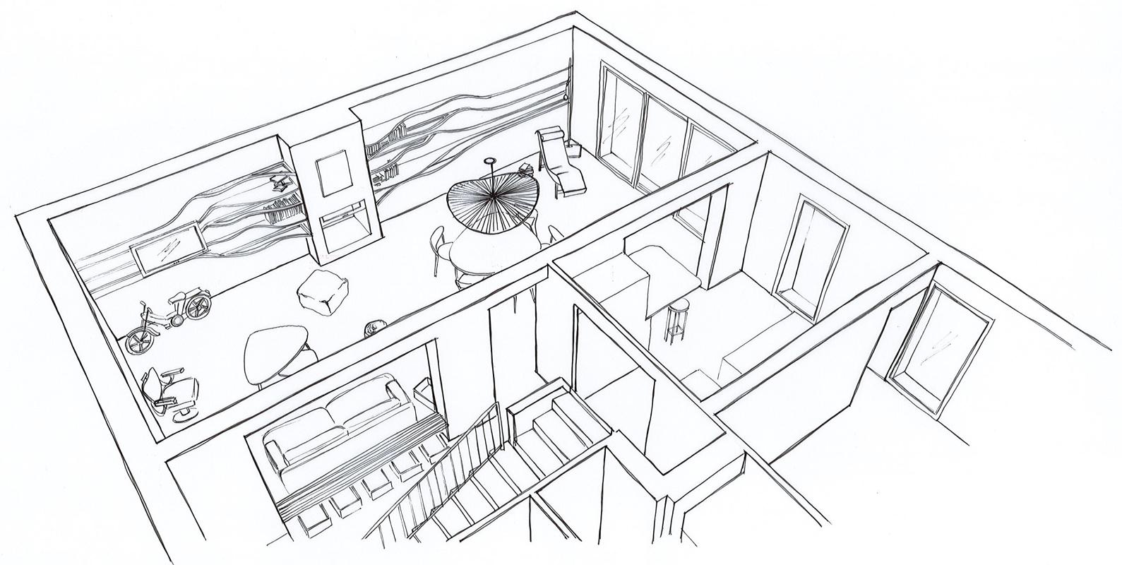 Projet d'aménagement intérieur maison - St-Gilles-Croix-de-Vie